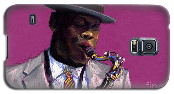 Jazz Saxophonist Galaxy S5 Case by Yuriy  Shevchuk
