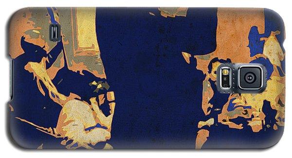 Trumpet Galaxy S5 Case - Jazz Trumpet Player by Drawspots Illustrations