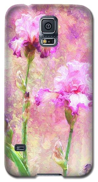 Jazzy Irises Galaxy S5 Case by Diane Schuster
