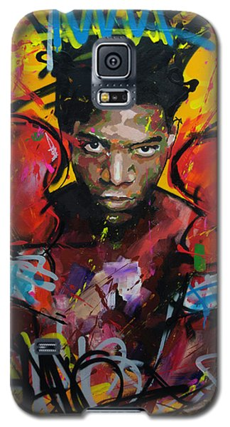 Galaxy S5 Case featuring the painting Jean-michel Basquiat by Richard Day