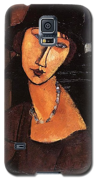 Jeanne Hebuterne With Hat And Necklace Galaxy S5 Case