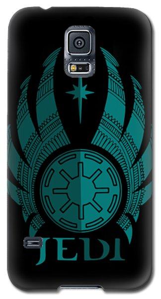Jedi Symbol - Star Wars Art, Blue Galaxy S5 Case