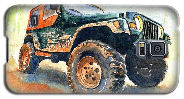 Jeep Wrangler Watercolor Galaxy S5 Case
