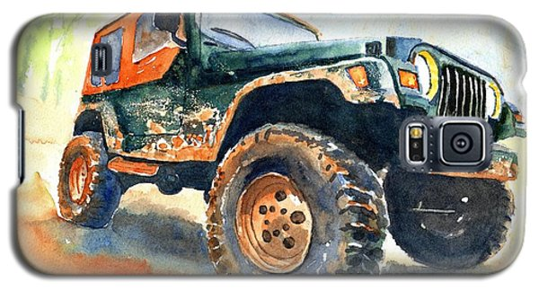 Car Galaxy S5 Case - Jeep Wrangler Watercolor by Carlin Blahnik CarlinArtWatercolor