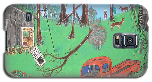 Galaxy S5 Case featuring the painting Jeff Bowhunting by Jeffrey Koss