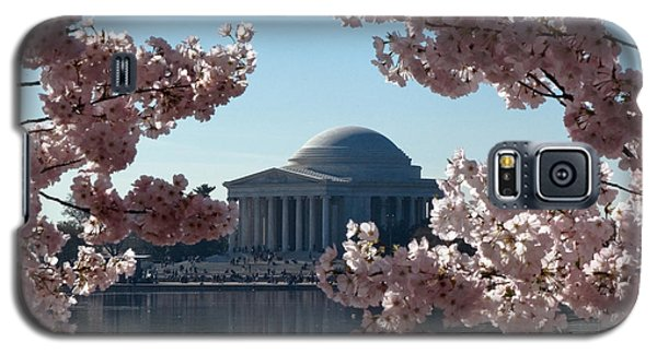 Jefferson Memorial At Cherry Blossom Time On The Tidal Basin Ds008 Galaxy S5 Case