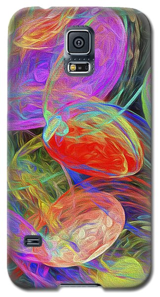Galaxy S5 Case featuring the digital art Jelly Beans And Balloons Abstract by Andee Design