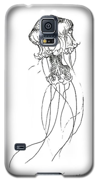 Jellyfish Sketch - Black And White Nautical Theme Decor Galaxy S5 Case