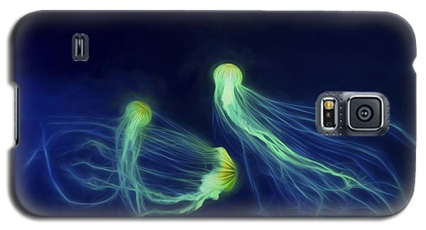 Galaxy S5 Case featuring the photograph Jellyfish Tango by Steven Richardson