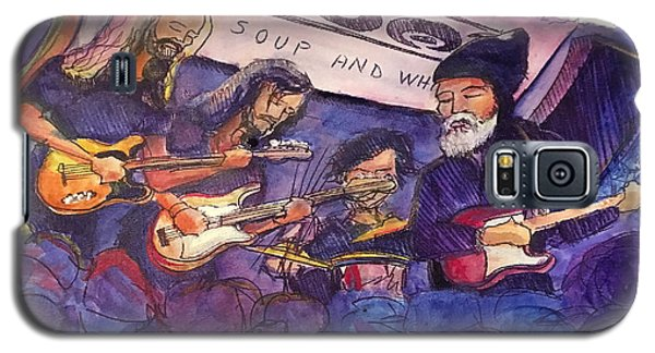 Galaxy S5 Case featuring the painting Jerry Joseph And The Jackmormons by David Sockrider