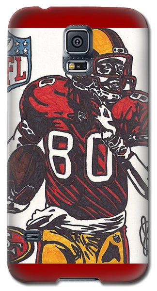 Galaxy S5 Case featuring the drawing Jerry Rice by Jeremiah Colley