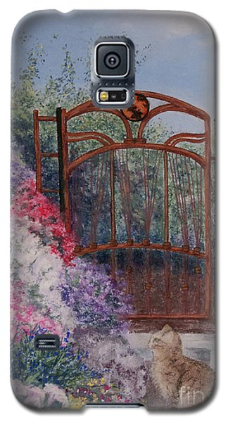 Galaxy S5 Case featuring the painting Jerrys Garden by Stanza Widen
