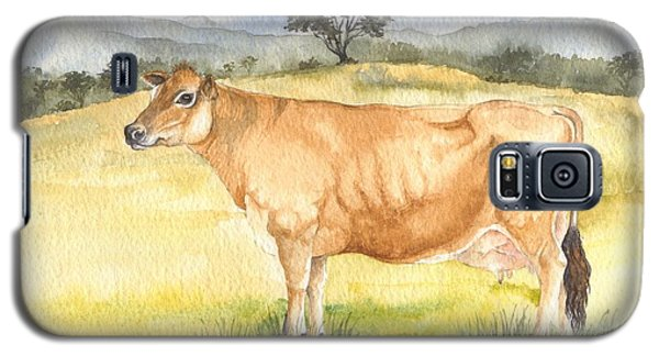 Galaxy S5 Case featuring the painting Jersey Cow by Sandra Phryce-Jones
