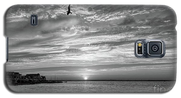 Jersey Shore Sunset In Black And White Galaxy S5 Case