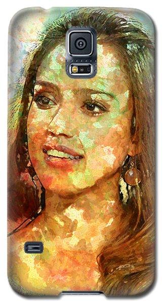 Jessica Alba Galaxy S5 Case by Elena Kosvincheva