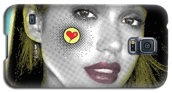Jessica Alba Pop Art, Portrait, Contemporary Art On Canvas, Famous Celebrities Galaxy S5 Case by Dr Eight Love