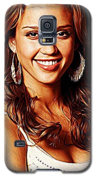 Jessica Alba Galaxy S5 Case by Iguanna Espinosa