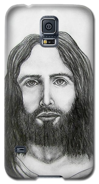 Galaxy S5 Case featuring the drawing Jesus Christ by Michael  TMAD Finney