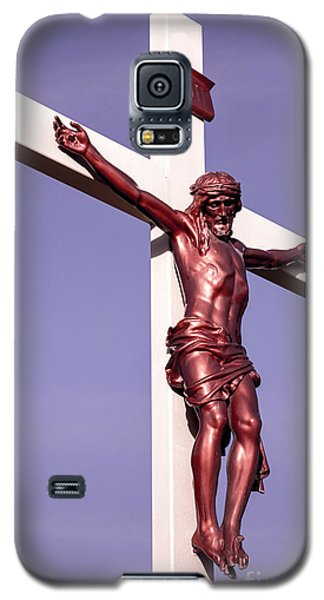 Jesus Crucifix Against The Sky 2 Galaxy S5 Case by Gary Whitton