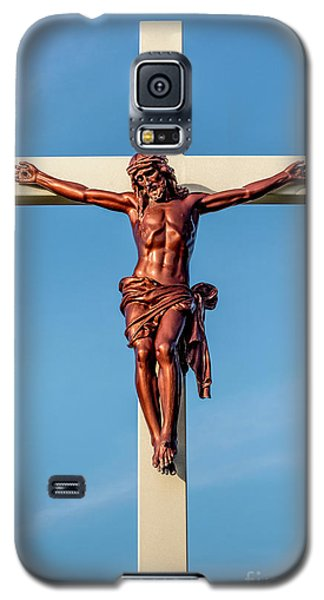 Jesus Crucifix Against The Sky 3 Galaxy S5 Case by Gary Whitton