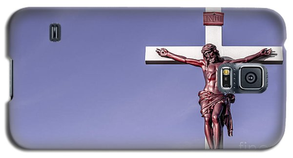 Jesus Crucifix Against The Sky Galaxy S5 Case by Gary Whitton