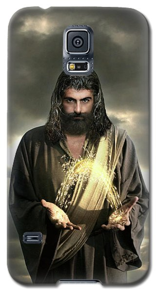 Jesus In The Clouds With Radiant Power Galaxy S5 Case