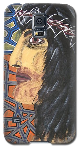 Galaxy S5 Case featuring the painting Jesus by Jeffrey Koss