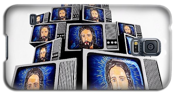 Jesus On Tv Galaxy S5 Case