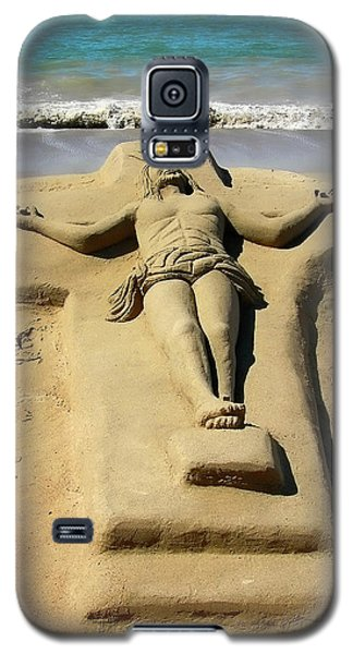 Jesus Sand Sculpture Galaxy S5 Case