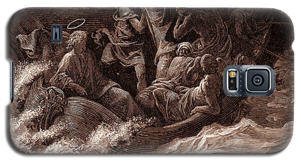 Jesus Stilling The Tempest Galaxy S5 Case by Gustave Dore