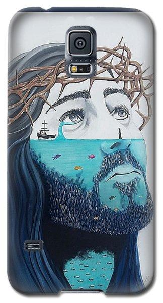 Jesus Walks On The Water Galaxy S5 Case by Edwin Alverio