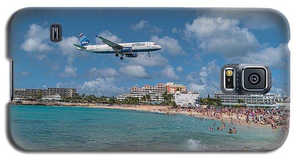 jetBlue at St. Maarten Galaxy S5 Case by David Gleeson