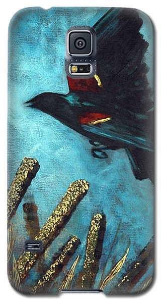 Galaxy S5 Case featuring the painting Jewel Among The Cattails by Suzanne McKee