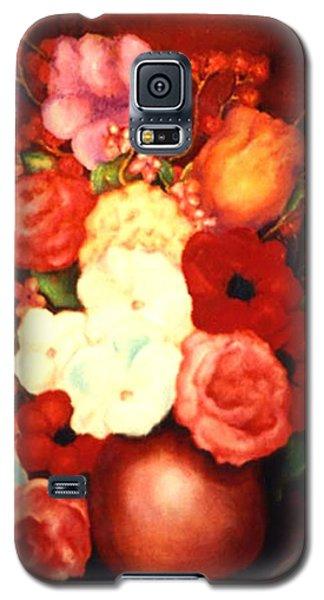 Jewel Flowers Galaxy S5 Case