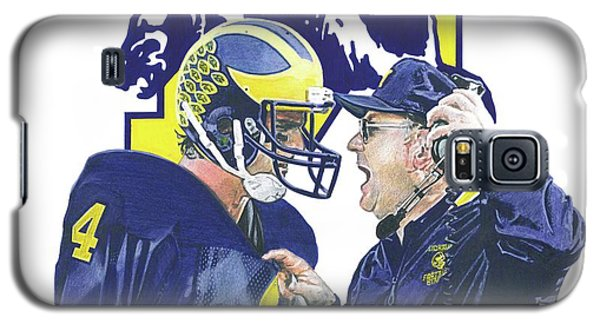 Sport Art Galaxy S5 Case - Jim Harbaugh And Bo Schembechler by Chris Brown