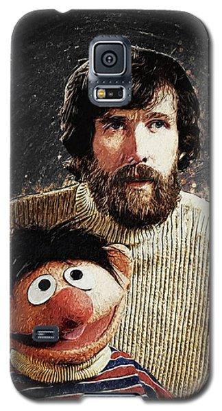 Jim Henson With Ernie Galaxy S5 Case by Taylan Apukovska