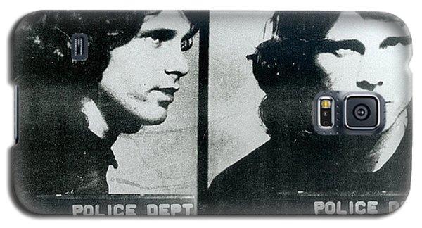 Jim Morrison Mug Shot Horizontal Galaxy S5 Case by Tony Rubino
