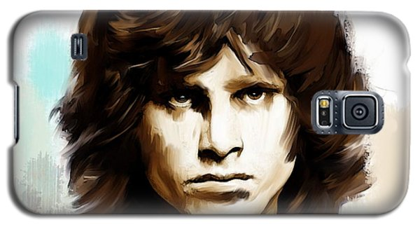 Galaxy S5 Case featuring the painting Jim Morrison Stolen Dust by Iconic Images Art Gallery David Pucciarelli