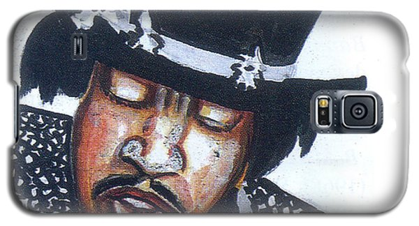 Galaxy S5 Case featuring the painting Jimi Hendrix by Emmanuel Baliyanga