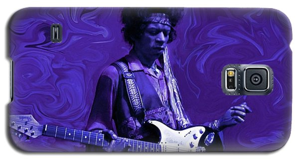Rock And Roll Galaxy S5 Case - Jimi Hendrix Purple Haze by David Dehner