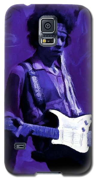 Galaxy S5 Case featuring the painting Jimi Hendrix Purple Haze P D P by David Dehner