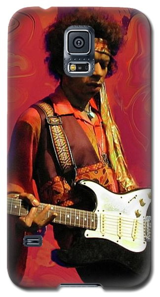 Galaxy S5 Case featuring the photograph Jimi Hendrix Purple Haze Red by David Dehner