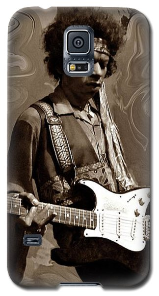 Galaxy S5 Case featuring the photograph Jimi Hendrix Purple Haze Sepia by David Dehner