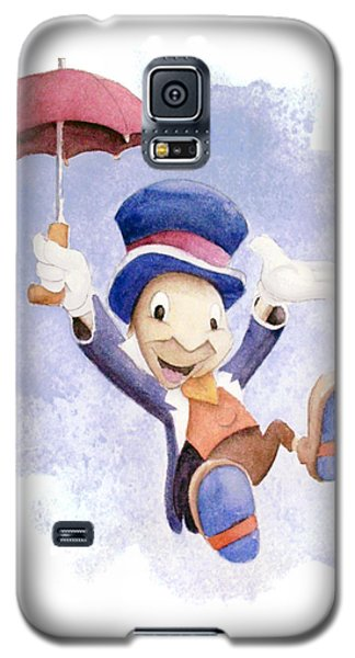 Jiminy Cricket With Umbrella Galaxy S5 Case by Andrew Fling