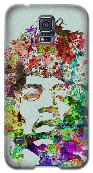 Celebrities Galaxy S5 Cases - Jimmy Hendrix watercolor Galaxy S5 Case by Naxart Studio