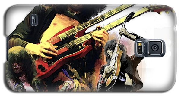 Jimmy Page  Echoes Of Pompeii Galaxy S5 Case by Iconic Images Art Gallery David Pucciarelli