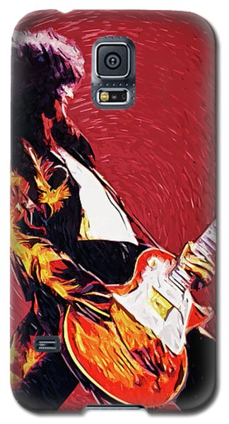 Jimmy Page  Galaxy S5 Case by Taylan Apukovska