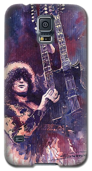 Jimmy Page  Galaxy S5 Case by Yuriy  Shevchuk