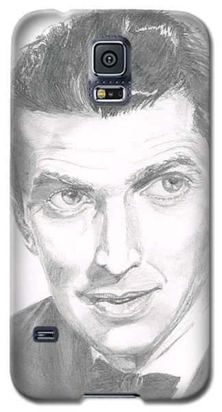 Galaxy S5 Case featuring the drawing Jimmy Stewart by Andrew Gillette