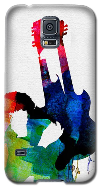 Jimmy Watercolor Galaxy S5 Case by Naxart Studio